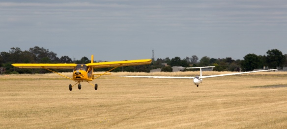 Foxbat glider towing at Benalla