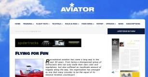 Aviator Flying for Fun
