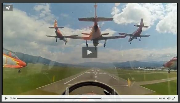 Formation landing