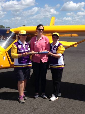 Foxy Ladies hand over the baton in Bundaberg L-R Nathalie, Danielle and Heather