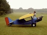 Small aeroplane big man