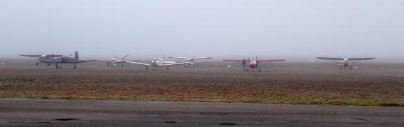 Broken Hill in the fog