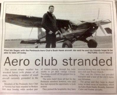 Aeroclub stranded
