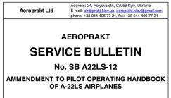 Aeroprakt service bulletins 11 & 12